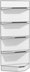 Стеллаж металлический угла внутреннего H2300