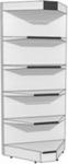 Стеллаж металлический угла внутреннего с навесом и освещением H2300