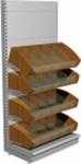 Стеллаж кондитерский с конфетными полками L1000 Н2300