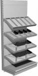 Стеллаж торговый с конфетными полками L1000 Н2300