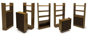 Демонстрационные стойки торговой мебели Лоза