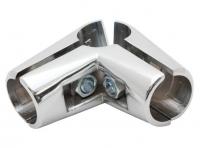 UNO04 Соединитель угловой 3х труб хром