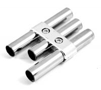 UNO05 Соединитель 3х параллельных труб хром