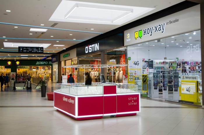 Островной павильон для сети магазинов ювелирных изделий
